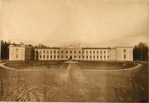 Общий вид здания Узловой железнодорожной больницы.