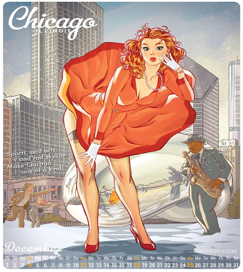 American Pin-up Calendar by Andrew Tarusov