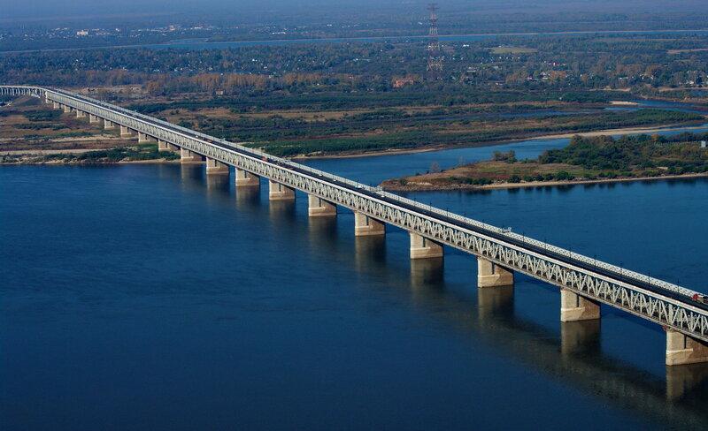 Мост через Амур. Хабаровск.