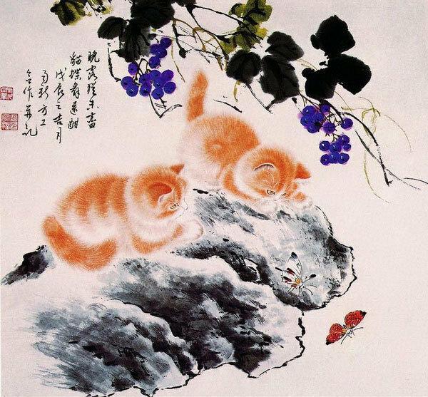Котята в китайской живописи