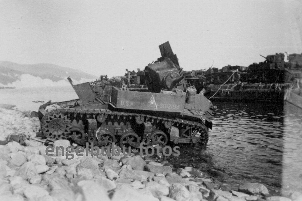 Подбитый танк М3л из состава 563-го отб. Южная Озерейка, май 1943 г.