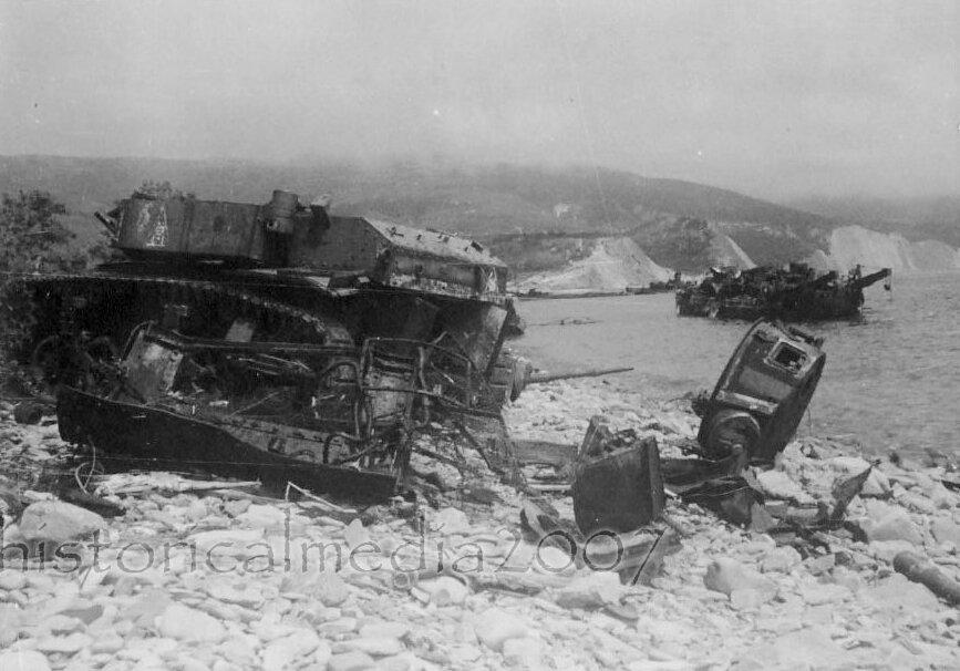 Подбитые танки М3л из состава 563-го отб. Южная Озерейка, 1943 год.
