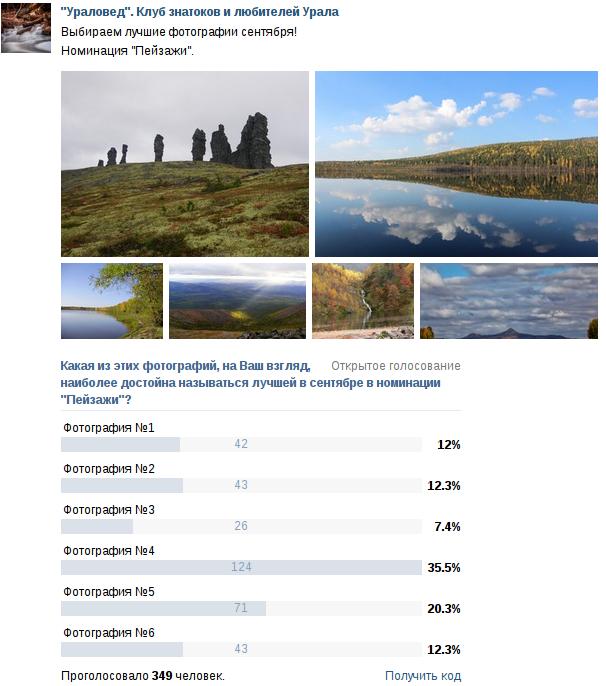 """Результаты конкурса """"Фото месяца - сентябрь 2014"""" в номинации """"Пейзажи"""""""