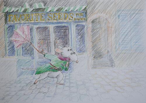 Джентльмен Крыс борющийся с ветром