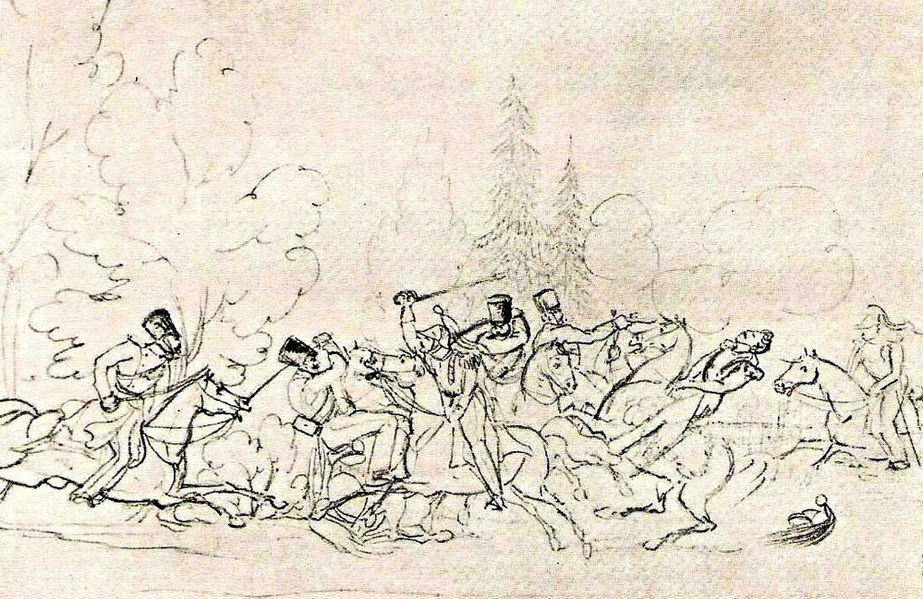 Битва фр кирасир с конноегерями 1832-34.jpg