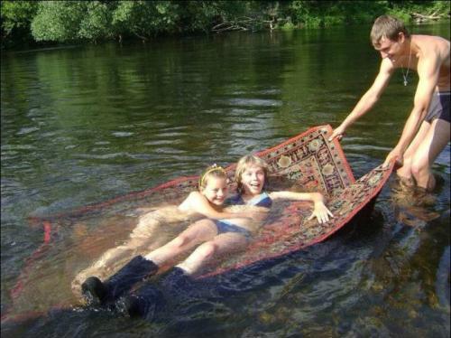 палас ковер на воде