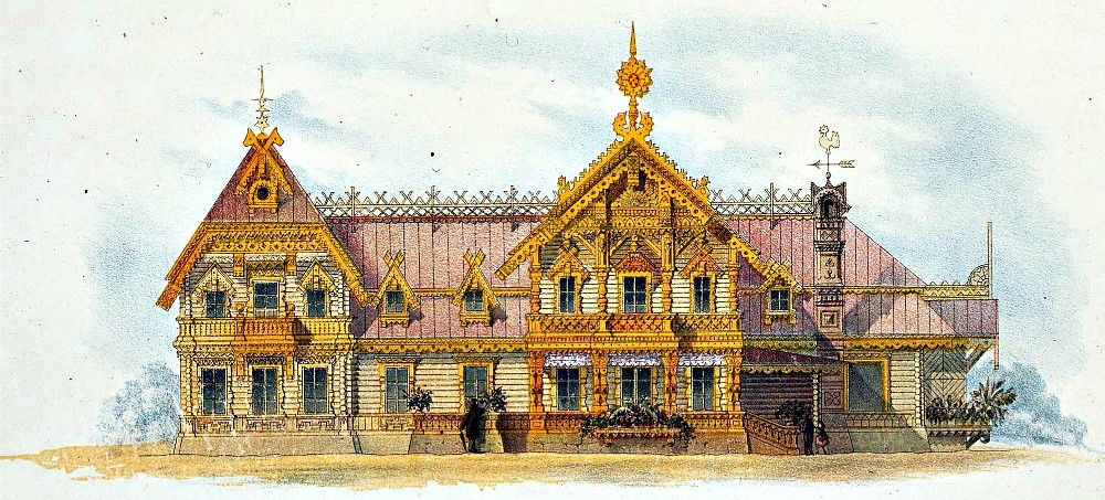 Мотивы русской деревянной архитектуры