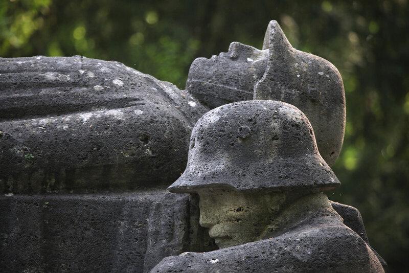 Мемориал павшим немецким солдатам в городе Вюрцбург в Баварии