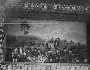 """""""Полтавская битва"""" - сцена из постановки живых исторических картин."""