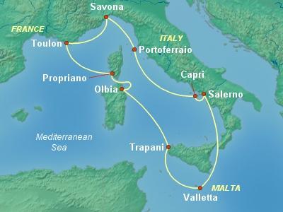Круиз на Costa Neoriviera Италия-Франция-Мальта. Круиз ради маршрута. Милан-Савона.Описание корабля.