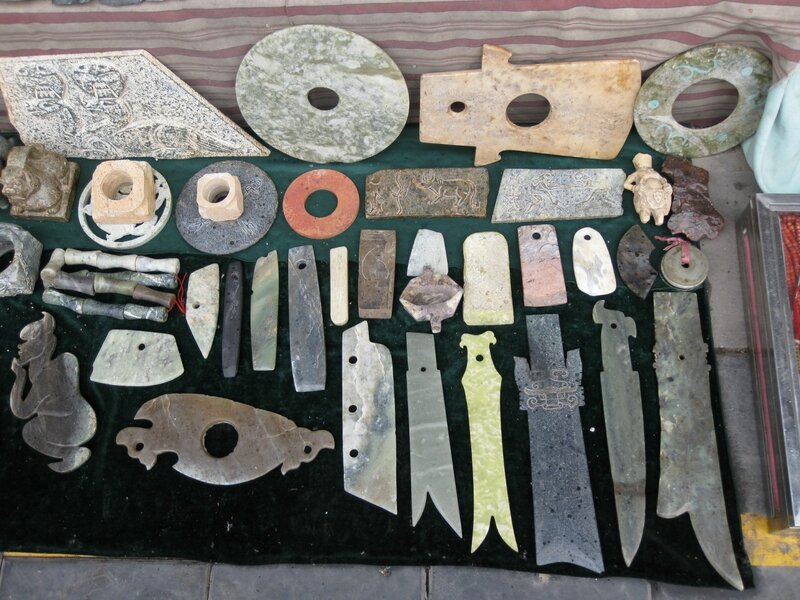 Изделия из нефрита, рынок Паньцзяюань, Пекин