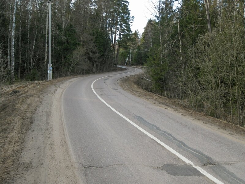 Дорога в сторону Поседкино
