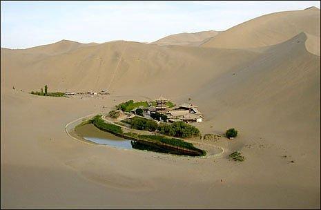 оазис в китайской пустыне