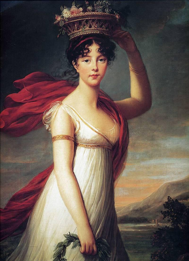 портрет дочери Джули Лебрен, как Флора - 1799