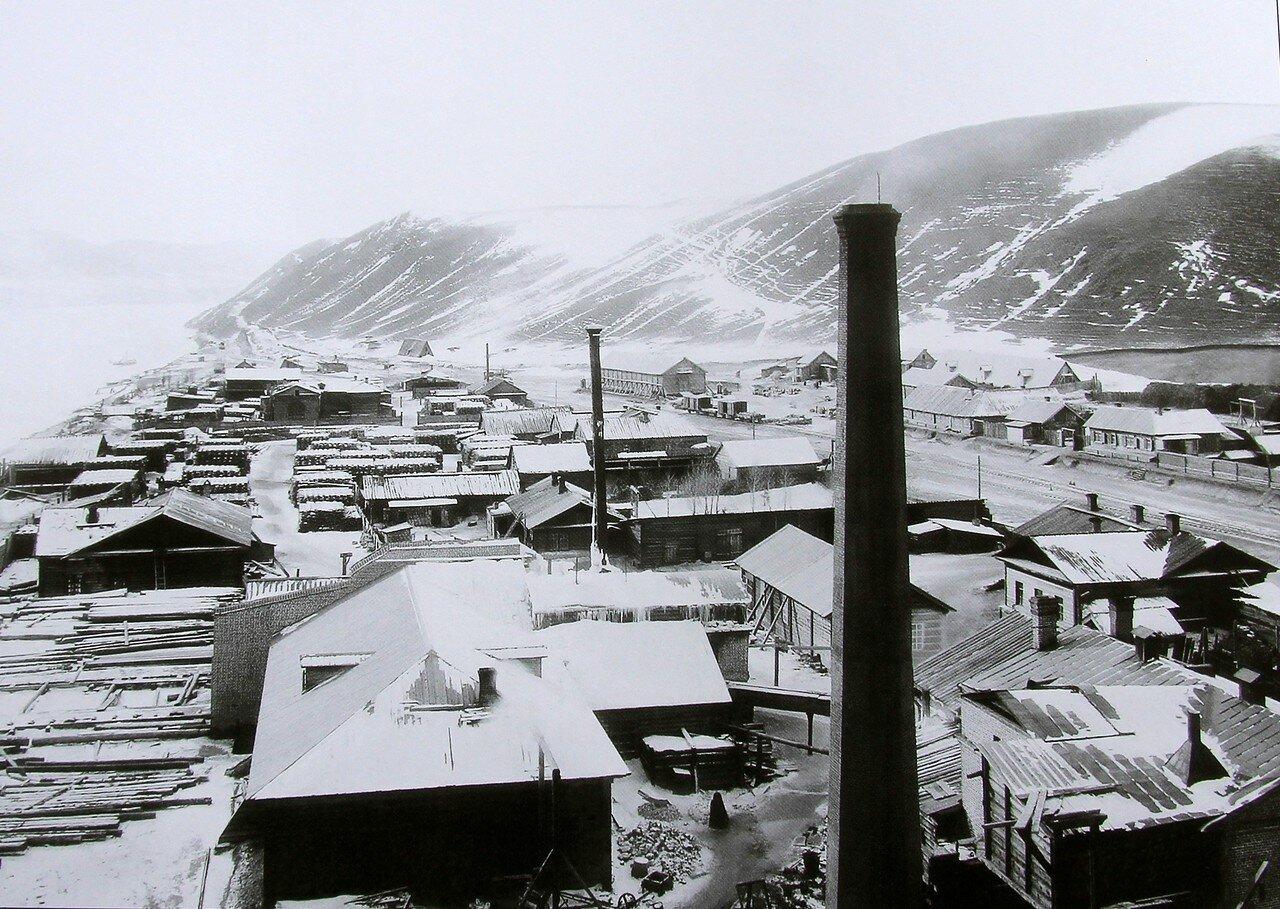 Правая сторона от станции Красноярск возле строящегося железнодорожного моста. 22 февраля 1898