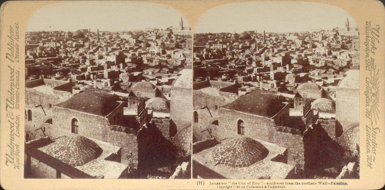 Иерусалим. Вид юго-западной части с восточной стены.1896