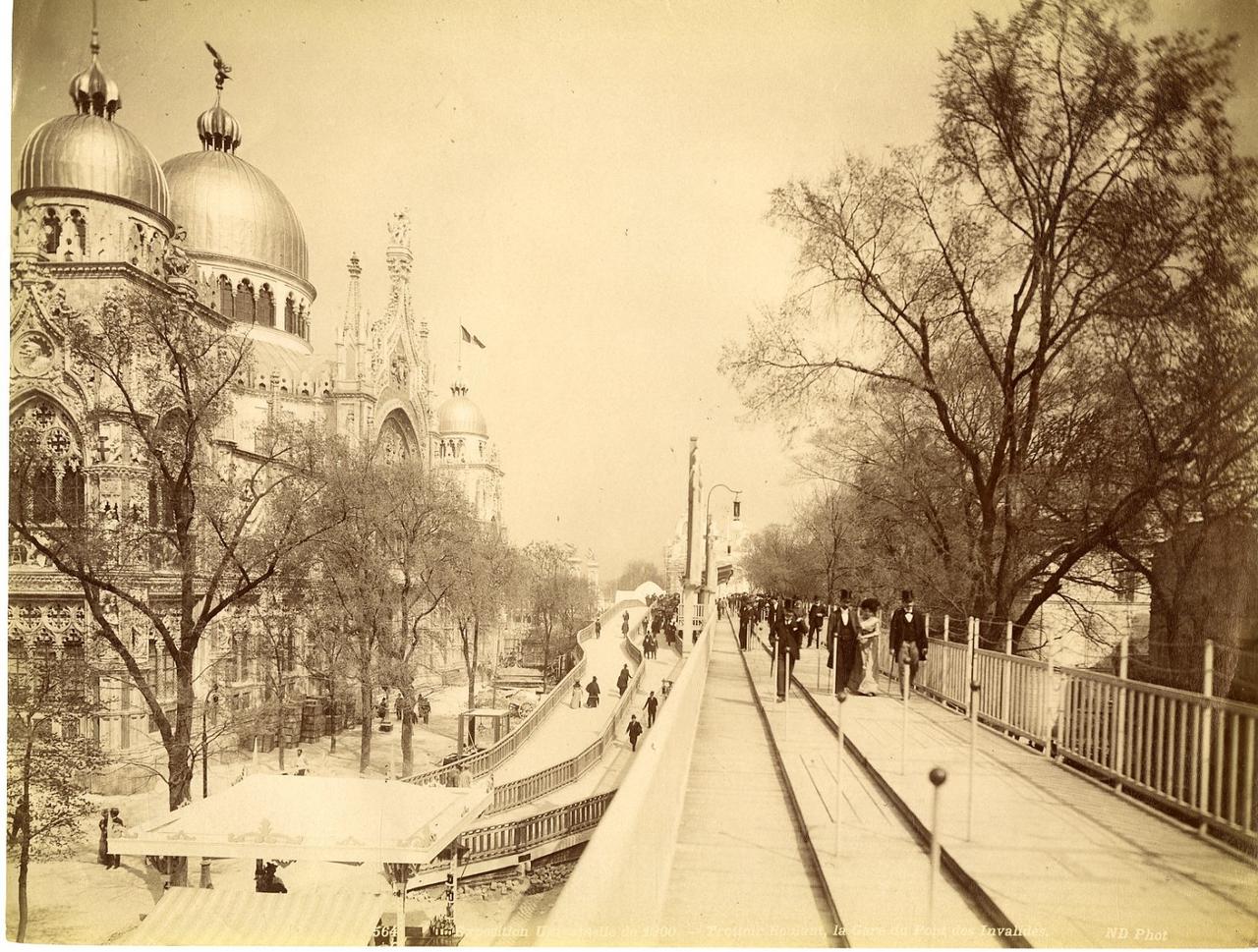 Подвижной тротуар, Вокзал у Моста Инвалидов
