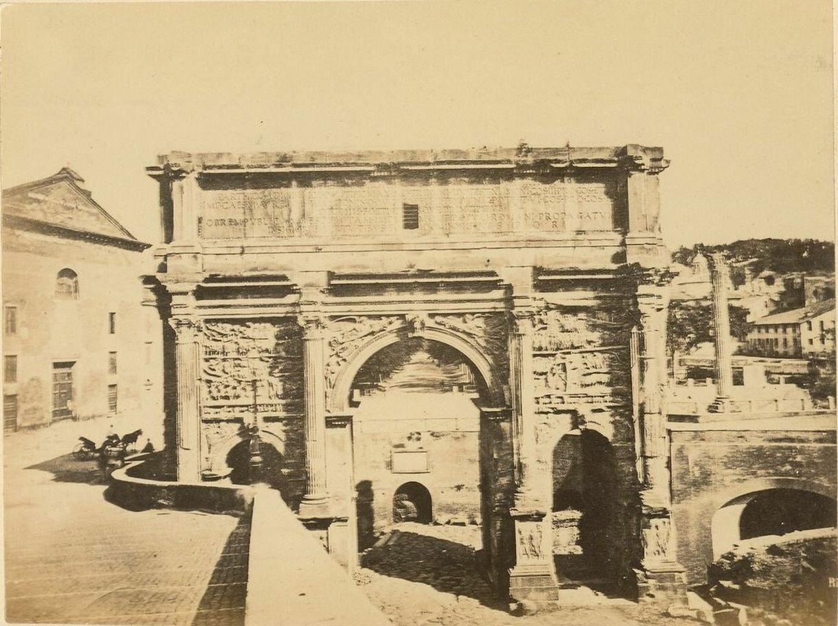 Триумфальная арка Септимия Севера. 1885