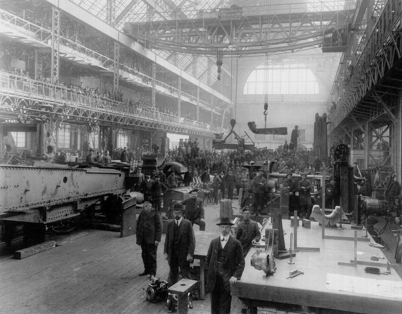 34. Внутренний вид башенной мастерской на Путиловском заводе