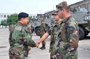 Показательные выступления в национальной армии Молдовы