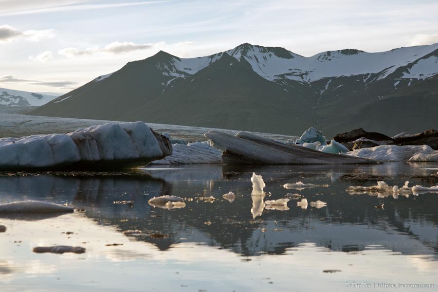 14. Тихий вечер у Ледниковой лагуны.