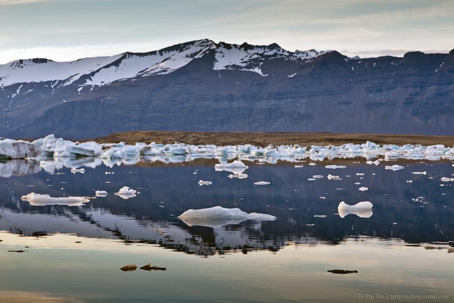 21. Тихий вечер у Ледниковой лагуны.