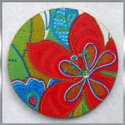 Сувенирная подставка под чашку Цветы