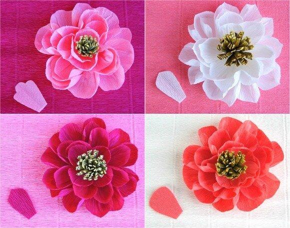 Цветы из гофр. бумаги своими руками