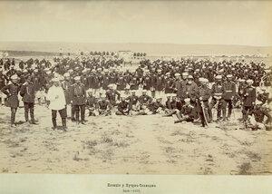 Позициите на 3-та Гвардейска пехотна дивизия в близост до Кючук-Чекмедже край Истанбул, юли 1878 г.