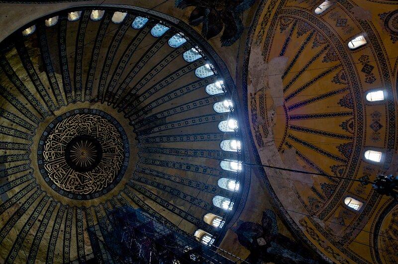 Стамбул. Купол Айя Софии.