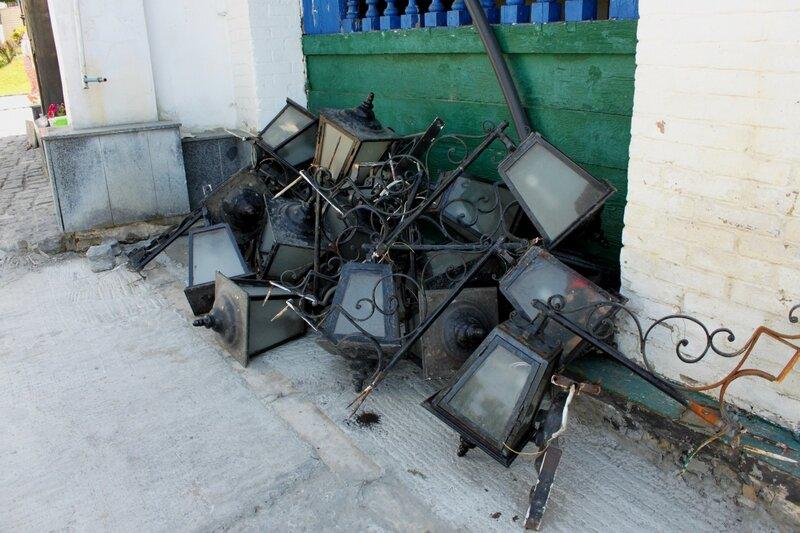 Демонтированные светильники