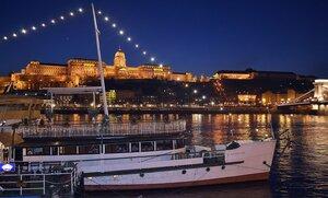 Ночной Будапешт.Королевский дворец Венгрии
