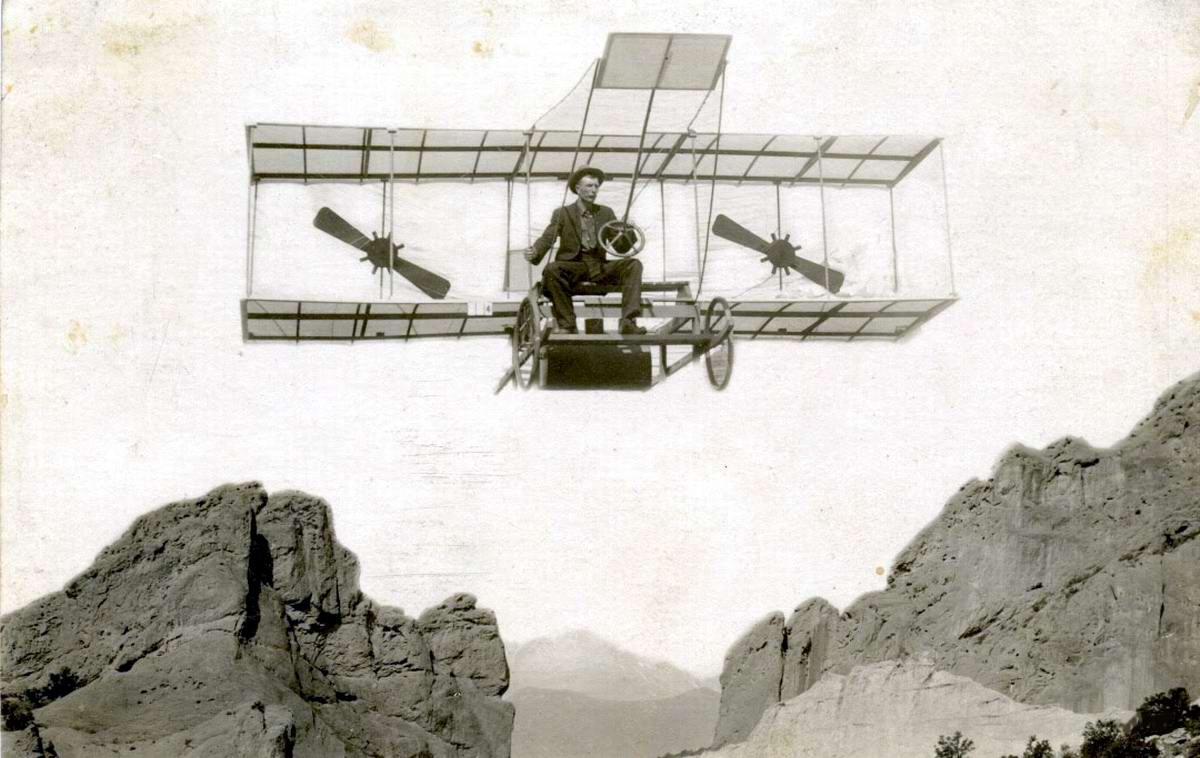 Художественные фоны для фотографий авиационной и воздухоплавательной тематики (11)