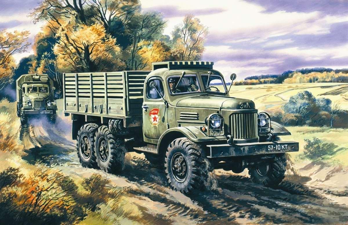 Армейский грузовой автомобиль ЗИЛ-157