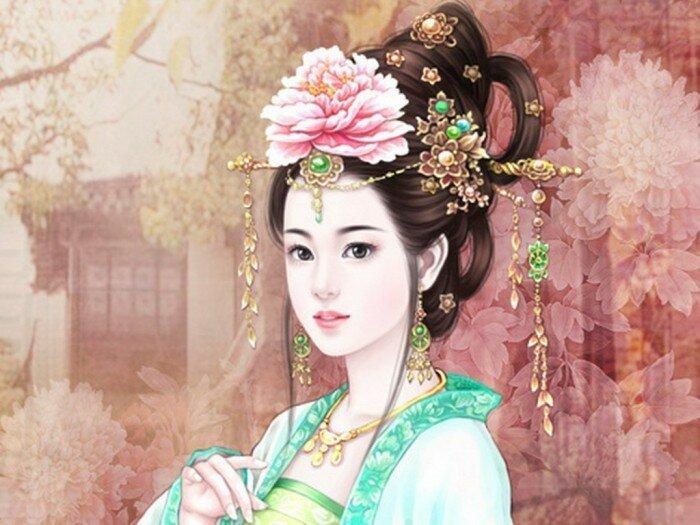 Красивые картины девушки китаянки