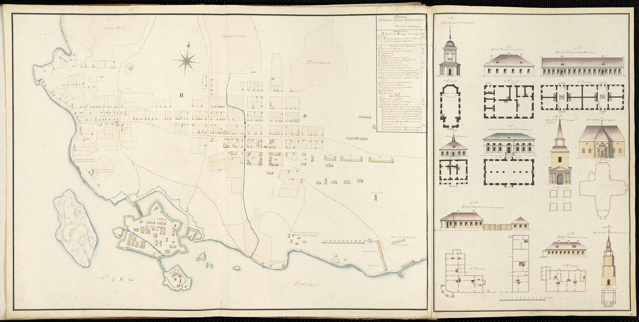 11. План города Кексгольм. Планы зданий. Часть 1.1802