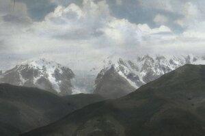 Вид ледника Адиш с перевала Латрапи