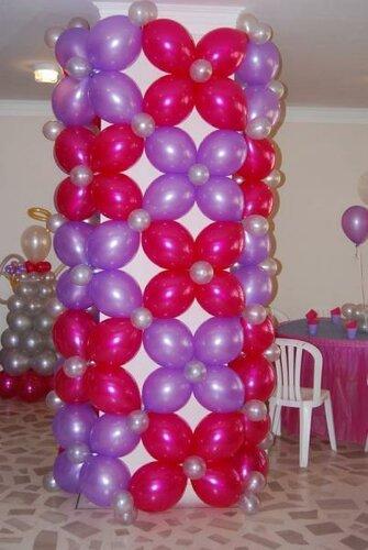 Как сделать из шаров колонну