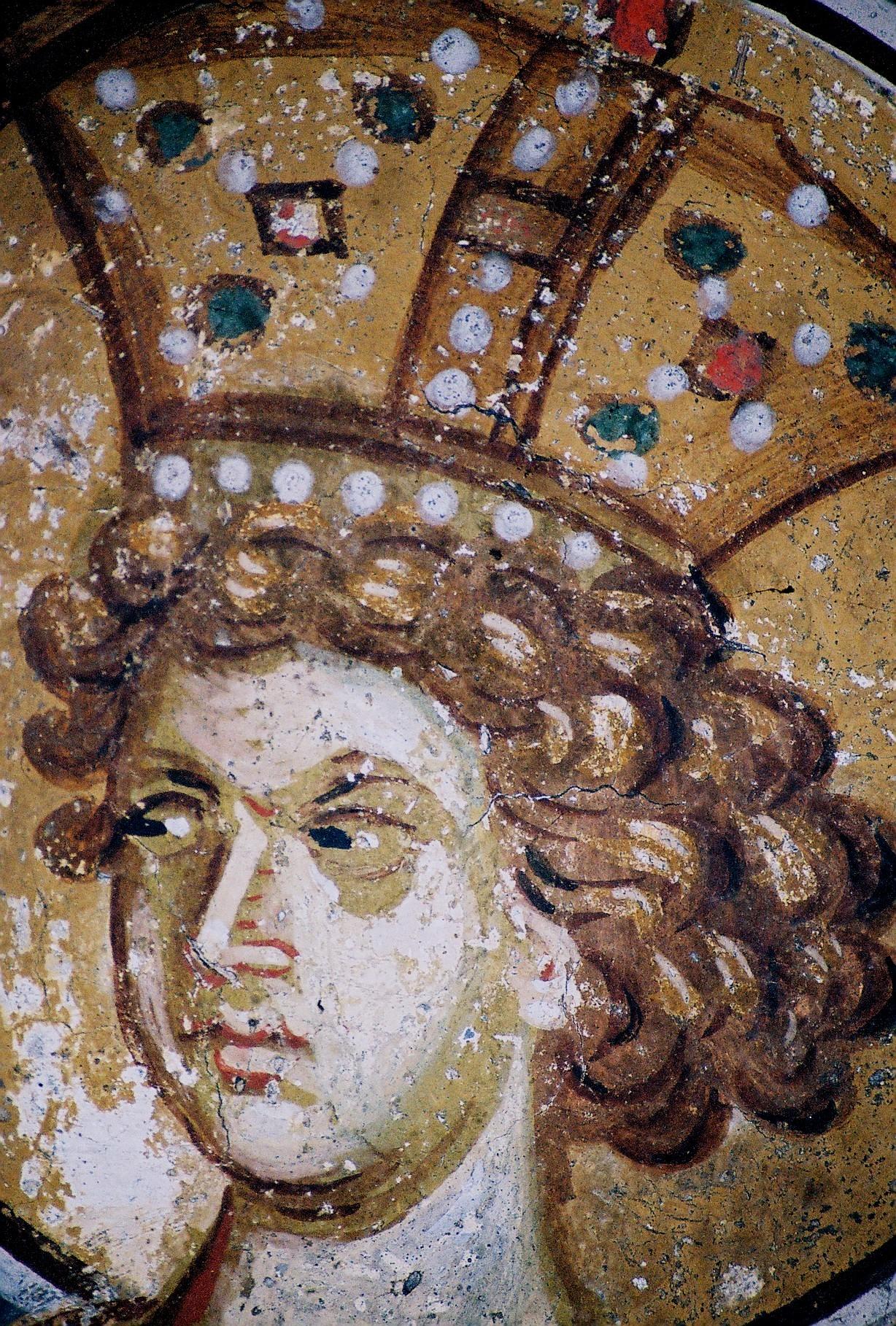 Святой Пророк Царь Соломон. Фреска в церкви Святых Апостолов в Пече, Косово, Сербия. Около 1350 года.