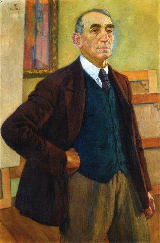 Self Portrait in a Green Waistcoat, 1924.jpeg