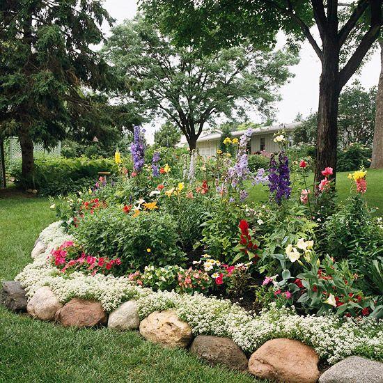 Как сделать красивую границу между газоном и цветником