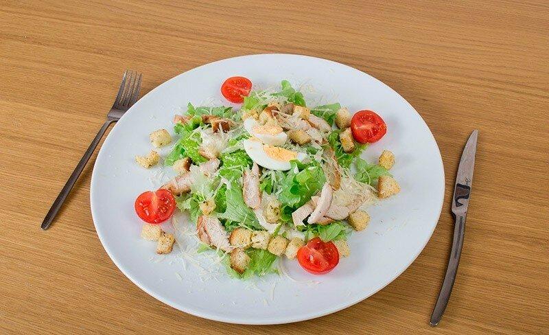 Рецепт приготовления салат цезарь с