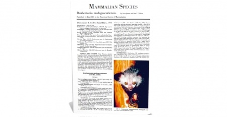 Книга #Mammalian_Species («Виды млекопитающих») — печатное издание Американского териологического общества, свежие номера которого вы
