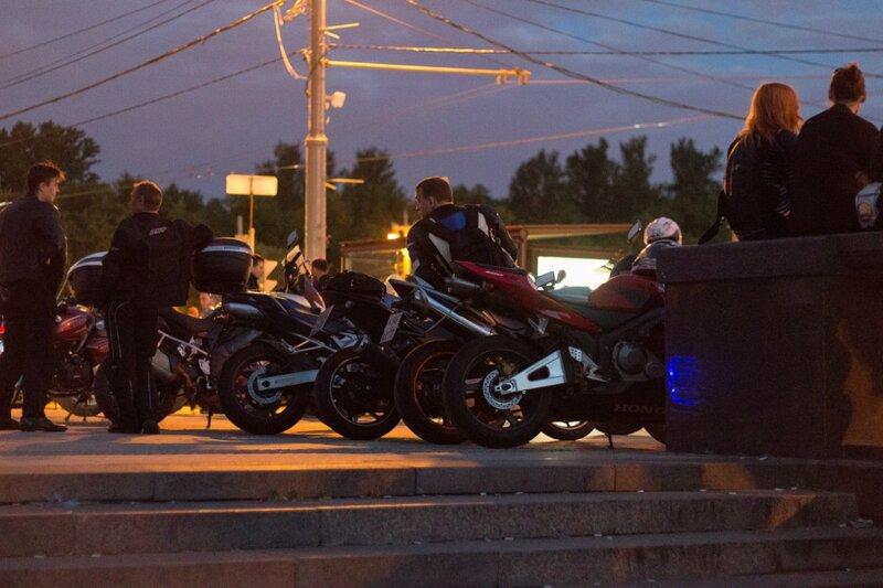 Мотоциклы, Воробьевы горы, Москва