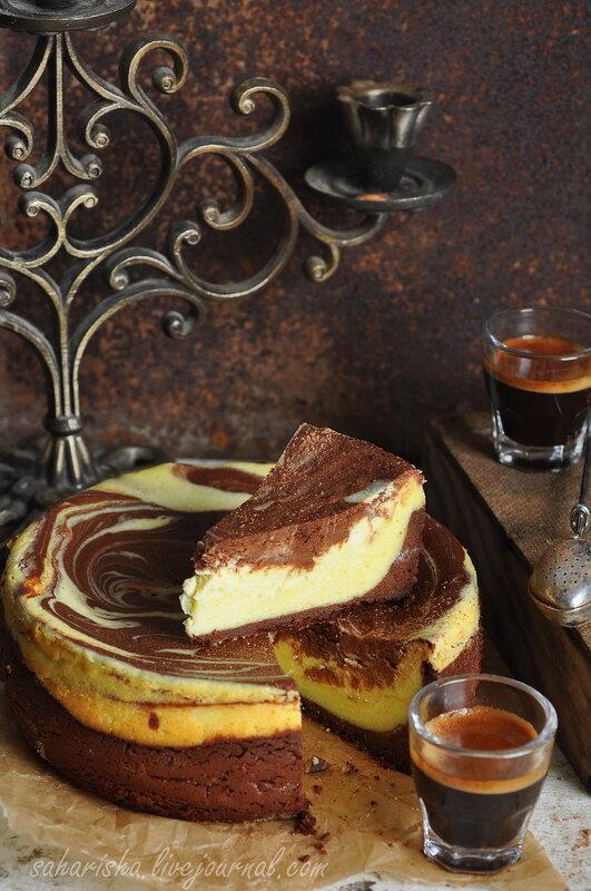 мраморный кофейный кекс рецепт с фото