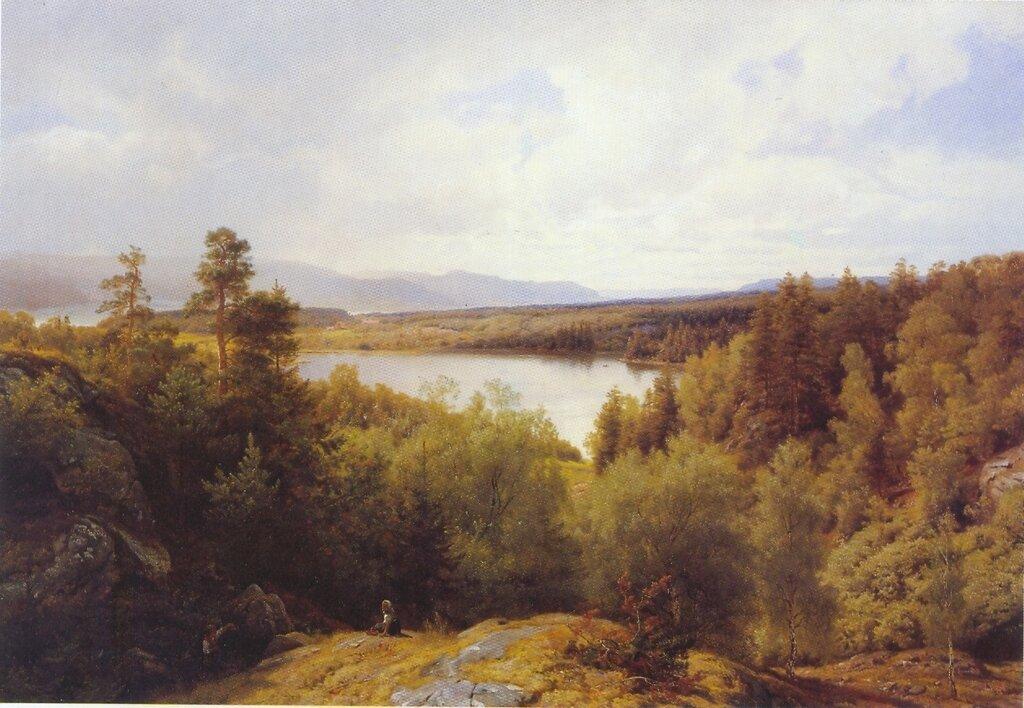 Hans Gude--Asterudtjernet, Ringerike--1878..jpg