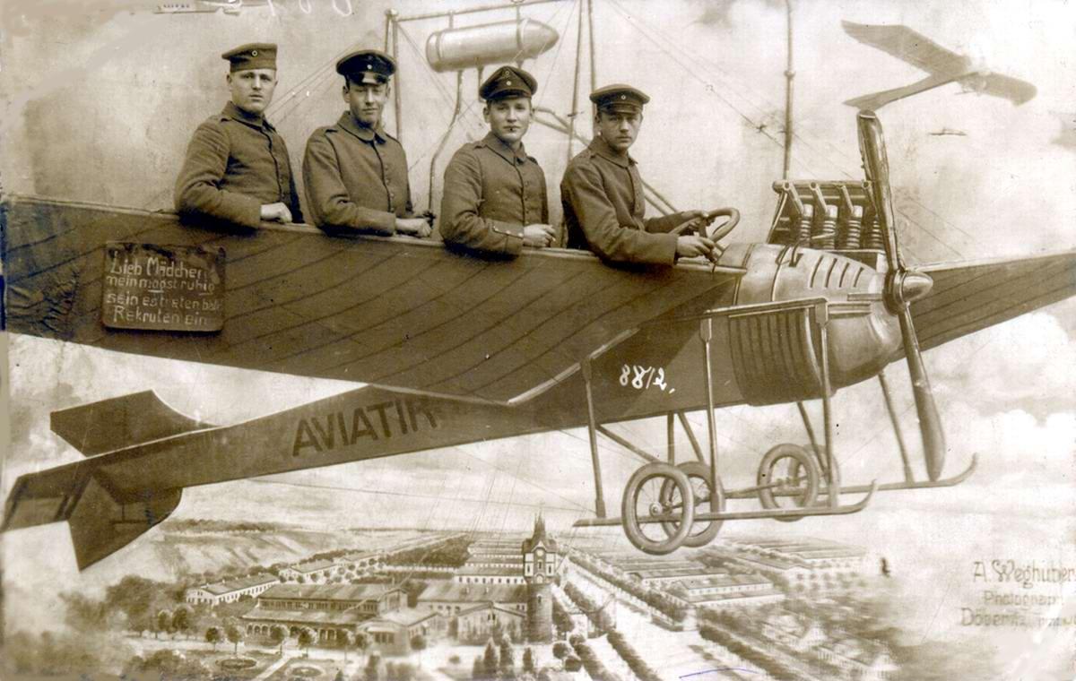 Художественные фоны для фотографий авиационной и воздухоплавательной тематики (17)