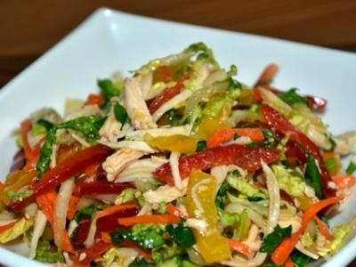 салат оливье из курицы простой рецепт