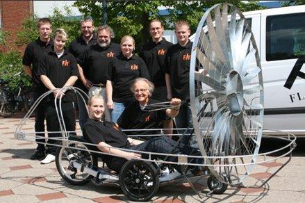 Велосипед, использующий энергию ветра