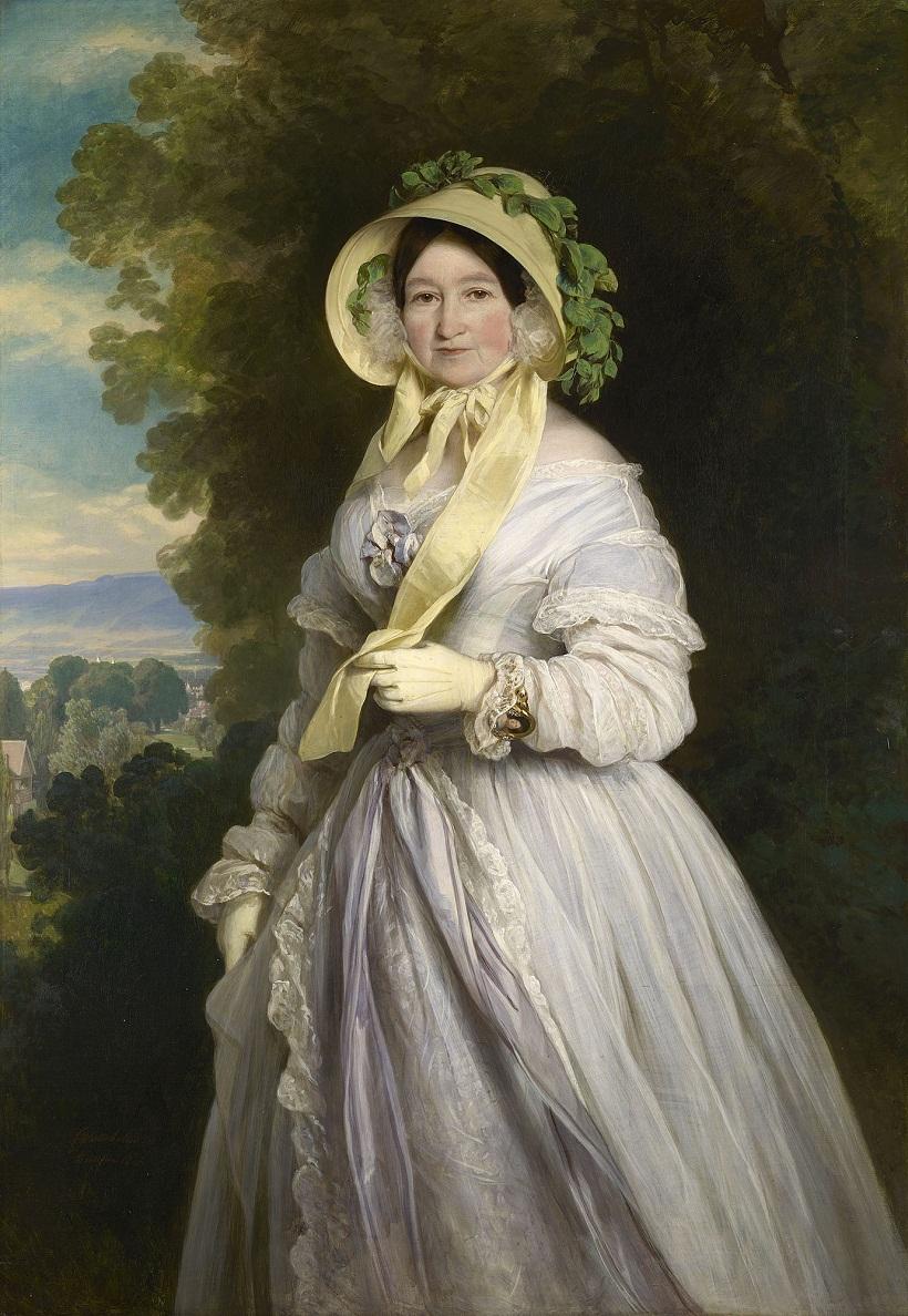 Юлиана, принцесса Саксен-Кобург-Saalfield, Великая Княгиня Анна Федоровна России (1781-1860)  Подпись и дата +1848
